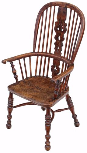 Victorian Yew & Elm Windsor Chair / Dining Chair C.1840 (1 of 1)