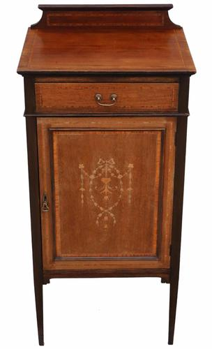 Edwardian Mahogany Music or Bedside Cabinet Table (1 of 1)