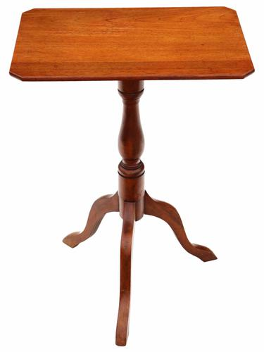Victorian Mahogany & Beech Tilt Top Supper / Side / Wine Table (1 of 1)