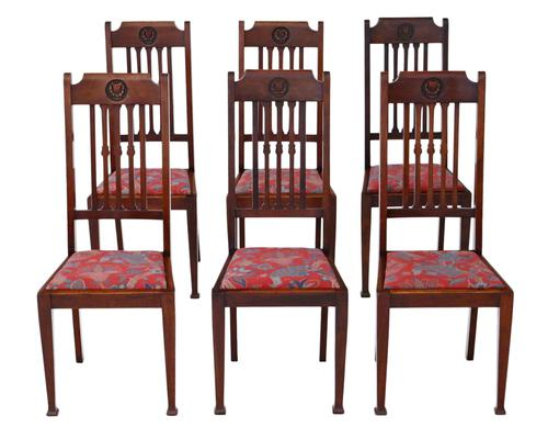 Set of 6 Mahogany Dining Chairs c.1915 (1 of 1)