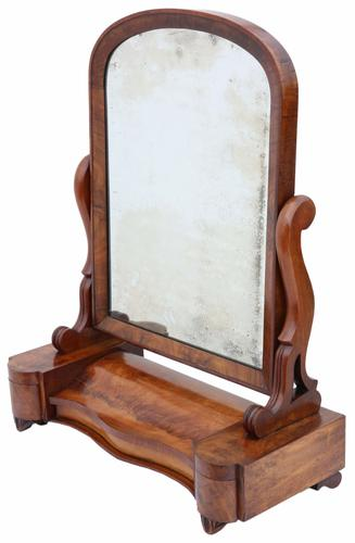 Large Dressing Table Swing Mirror / Toilet Mirror c.1870 (1 of 1)