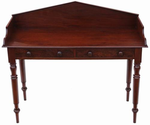 William IV Mahogany Desk or Writing Table c.1835 (1 of 1)