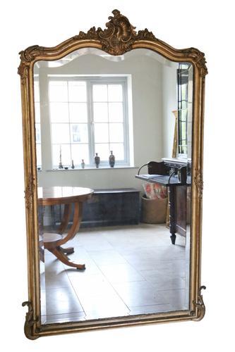 French Gilt Wall Mirror A. Broquart C.1900 ~ 4' X 6' (1 of 1)