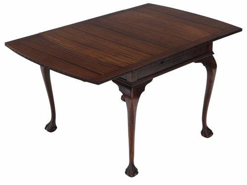 Mahogany Drawer Leaf Extending Dining Table c.1925 (1 of 1)