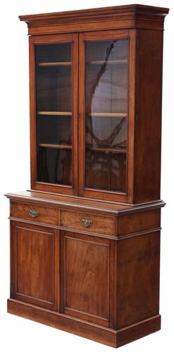 Victorian Mahogany Glazed Bookcase Cupboard Display Cabinet (1 of 1)