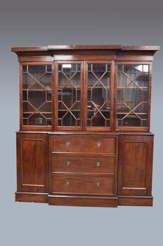 Antique Victorian Mahogany Breakfront Bookcase (1 of 3)