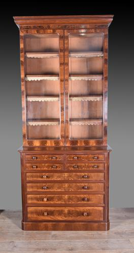 Victorian Mahogany Bookcase by Merryweather Holloway London (1 of 5)