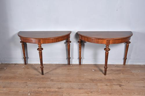 Pair of 19th Century Mahogany Console Tables (1 of 4)