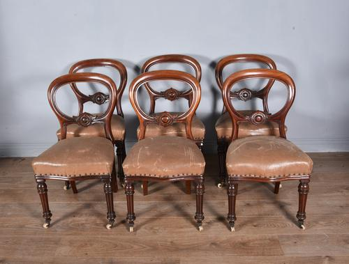 Set of Six Victorian Mahogany Dining Chairs (1 of 5)