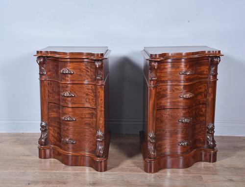 Pair of Victorian Mahogany Bedside Chests of Drawers (1 of 5)