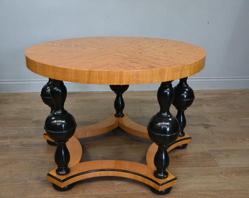 Art Deco Satin Birch Circular Coffee Table (1 of 3)