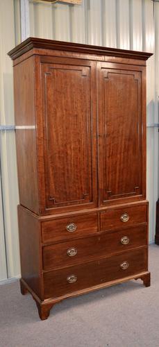 "Antique Georgian ""style"" Mahogany Linen Press Cupboard (1 of 1)"