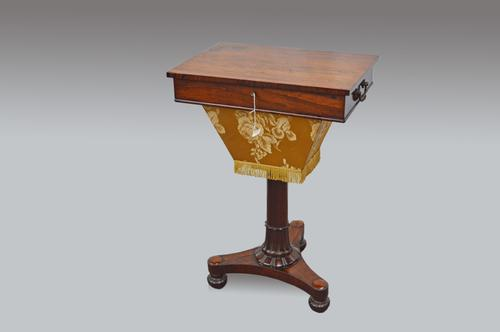 Rosewood Work Table / Sewing Table c.1830 (1 of 1)