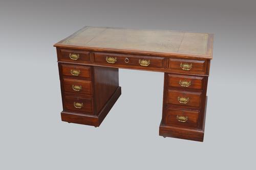 Antique Victorian Pedestal Desk (1 of 1)