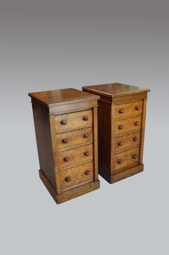 Fine Pair of Antique Victorian Wellington Chests (1 of 1)
