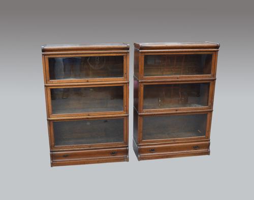 Pair of Oak Globe Wernicke Bookcases c.1900 (1 of 1)