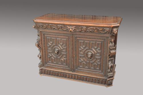 Antique Victorian Carved Oak Sideboard (1 of 1)