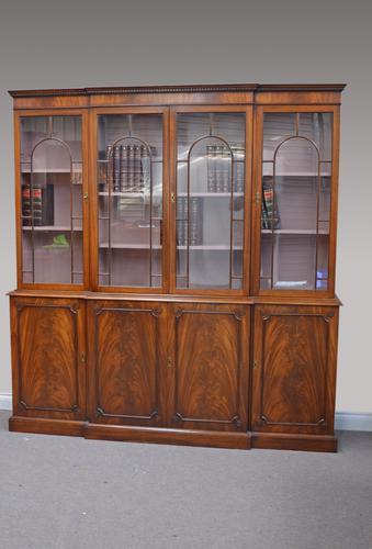 Georgian Style Mahogany Breakfront Bookcase (1 of 1)