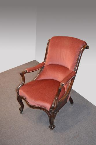 Victorian Mahogany Open Armchair (1 of 1)