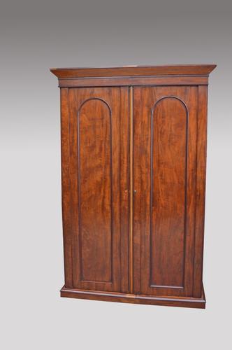 Antique Victorian Mahogany Double Wardrobe (1 of 1)