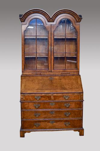 Queen Anne Revival Walnut Bureau Bookcase c.1920 (1 of 1)