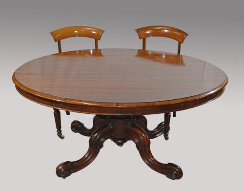 Large Antique Rosewood Dining Table (1 of 1)