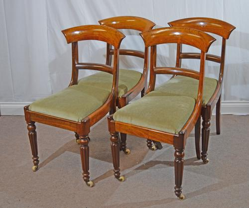 Set of Four William IV Rosewood Dining Chairs (1 of 1)