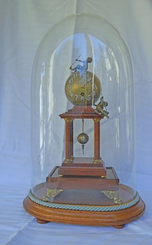Rare Edwardian Spherical Ball Portico Clock / Dome Clock / Cherub Clock (1 of 1)