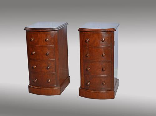 Pair of Victorian Bow Front Bedside Cabinets (1 of 1)