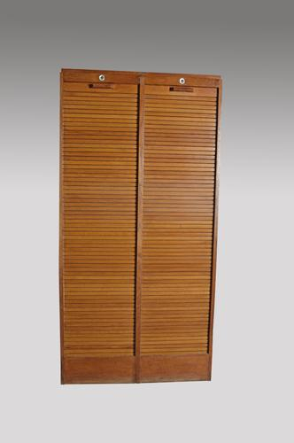 French Double Tambour Front Cabinet c.1930 (1 of 1)