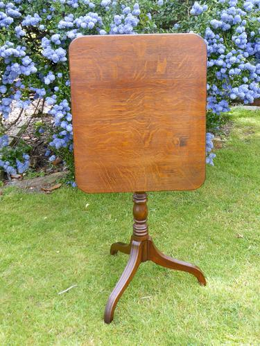 Country Oak Tilt Top Wine Table 1790 (Free Shipping to Mainland England) (1 of 8)