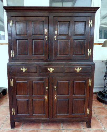 Country Oak Hall 1760 Cupboard Splits Into 2 (Free Shipping to Mainland England) (1 of 8)