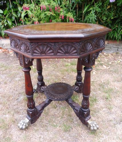 Heavily Carved Oak  Occasional Table 1800 (Free Shipping to Mainland England) (1 of 9)