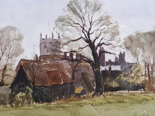 Watercolour & Ink Dedham Colchester Listed Artist Ronald Birch (1 of 8)