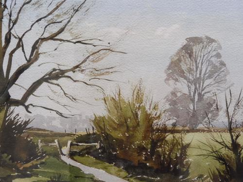Watercolour & Ink Laycock Wiltshire Listed Artist Ronald Birch 1976 (Free Shipping to Mainland England) (1 of 8)