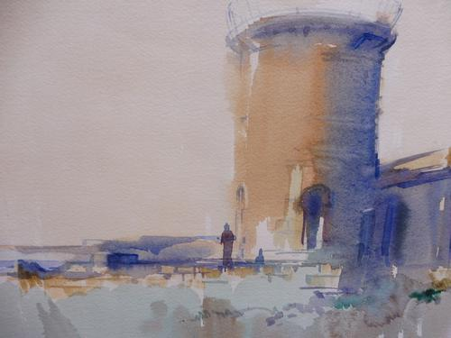 Watercolour Martello Tower Listed Artist John Powley (Free Shipping to Mainland England) (1 of 10)
