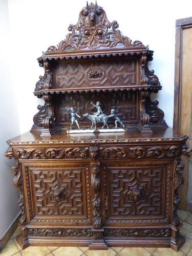 Heavily Carved Country Oak Game Cupboard 1830 (Free Shipping to Mainland England) (1 of 1)