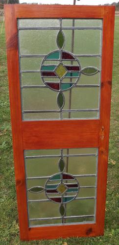 Pair of Victorian Leaded Stained Glass Windows (1 of 4)