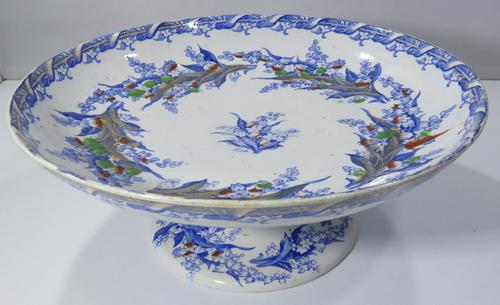 19th Century Terre De Fer Ceramic Tazza Serving Dish (1 of 7)