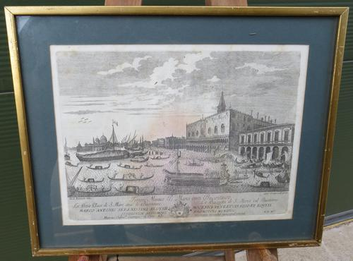Framed Antique Venetian Engraving by Giampiccoli (1 of 9)