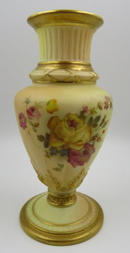 Royal Worcester Hand-Painted Small Vase (1 of 4)
