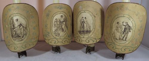 Set of Four Victorian Candle Shield Shades (1 of 1)