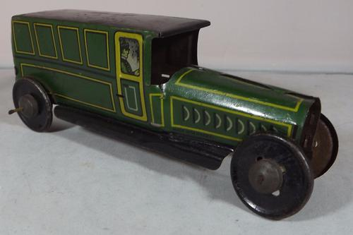 German Tinplate Charabanc Bus Penny Toy c.1910 (1 of 1)