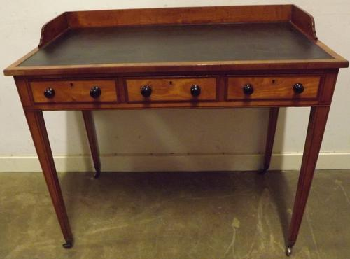 Superb Inlaid Satinwood Writing Desk c.1880 (1 of 1)
