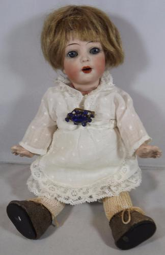 """K*R 8.5"""" Simon & Halbig Bisque-Head Toddler Doll C.1910 (1 of 1)"""