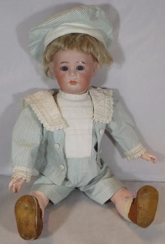 """K*R 13"""" Simon & Halbig Bisque-Head Character Doll C.1910 (1 of 1)"""