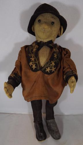 "1908-1910 11"" Steiff Cloth Farmer Doll (1 of 1)"