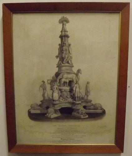 Framed 19th Century Engraving of 'the Chandos Testimonial' (1 of 7)