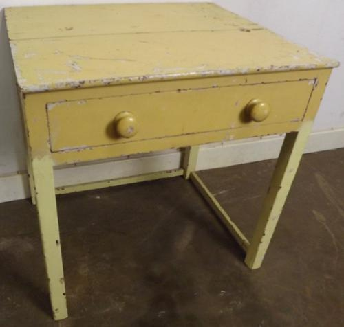 Antique Victorian Painted Pine Work Table C.1840 (1 of 1)