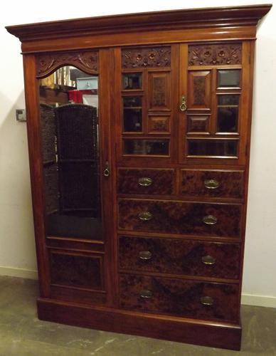 Victorian Walnut Compactum Wardrobe by Maple & Co (1 of 1)